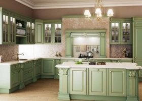 Green Wash Kitchen Cabinets