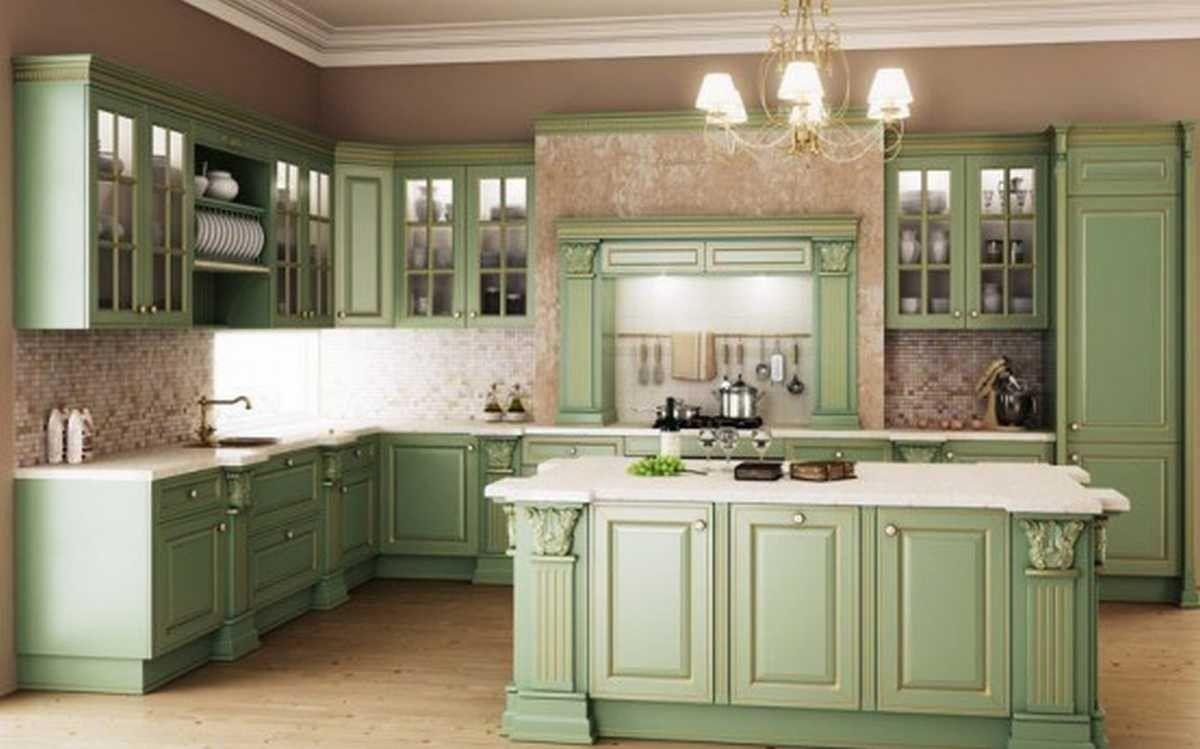 Green Wash Kitchen Cabinets Layjao