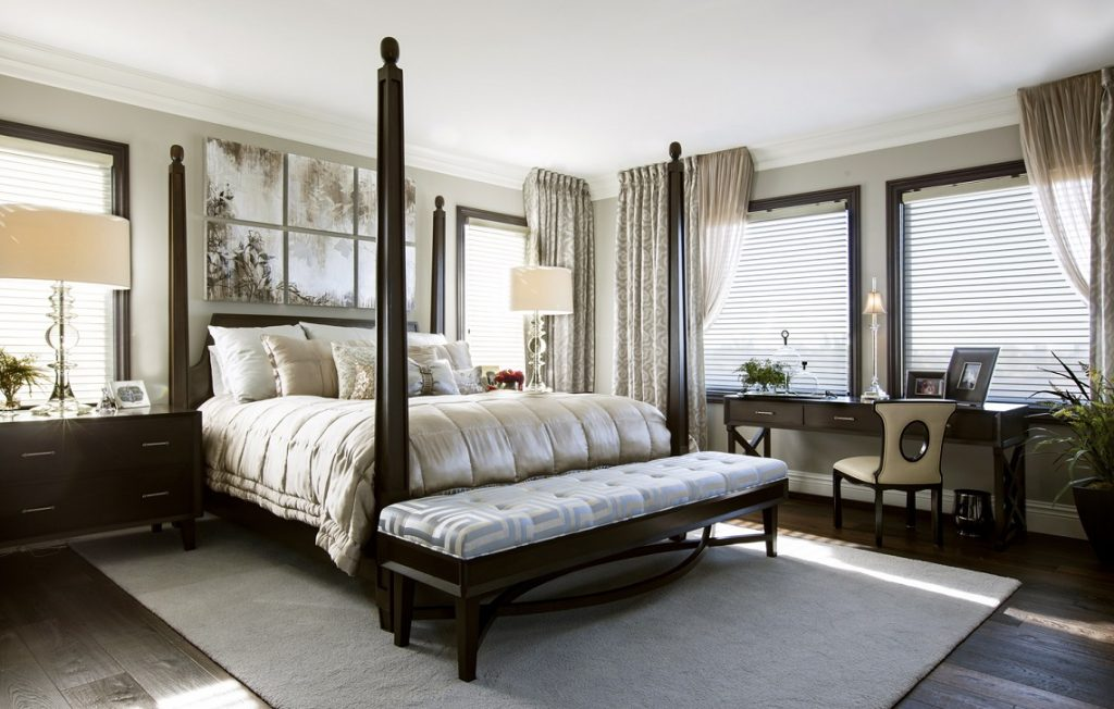 Hamptons Inspired Luxury Master Bedroom Before And After San Diego