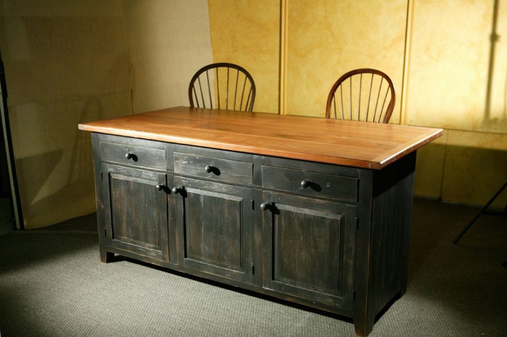 Hand Crafted Rustic Barn Wood Kitchen Island Ecustomfinishes