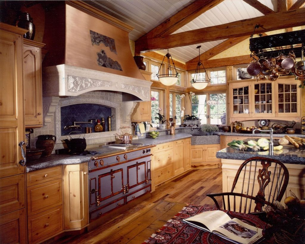 Handmade French Country Kitchen Remodel Of Wood Stone Metal