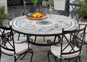 Outdoor Mosaic Patio Dining Tables