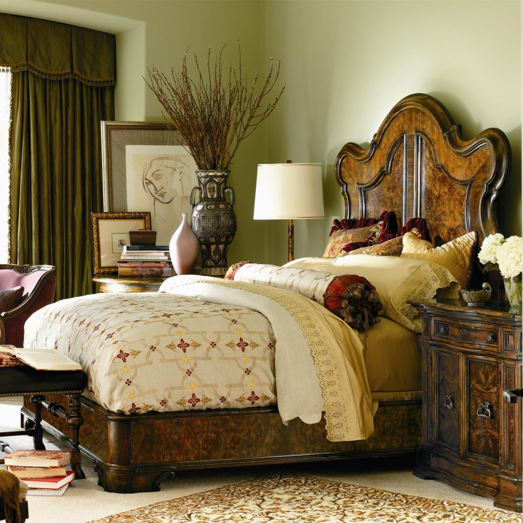 Henredon Furniture Bedroom Henredon Leather Company Garrow Bed 66