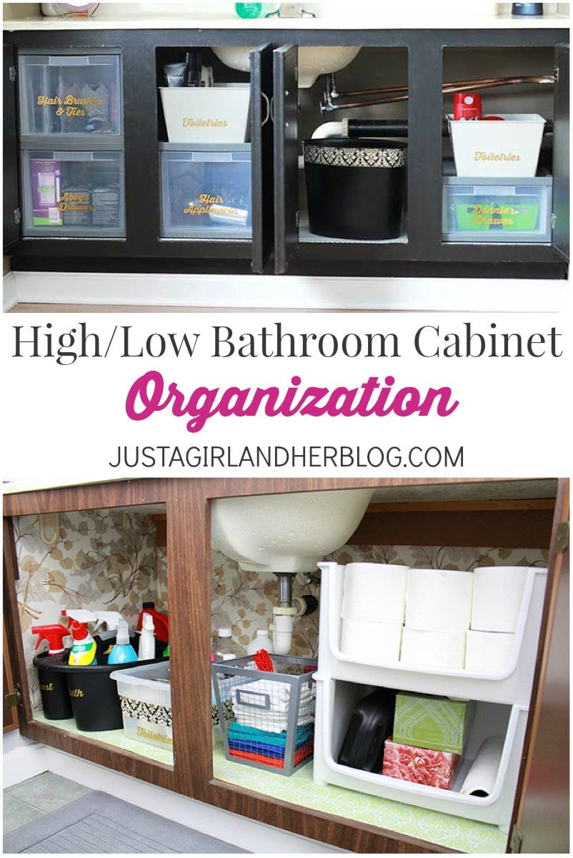 Highlow Bathroom Cabinet Organization Ab Lawson