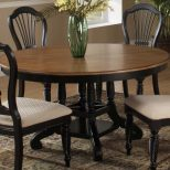 Hillsdale Wilshire Round Oval Dining Table Rubbed Black Dining