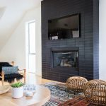 Black Fireplace Living Room