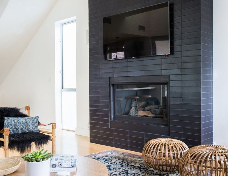 Home Crush A Coastal Bohemian Remodel Fireplaces Painted Brick