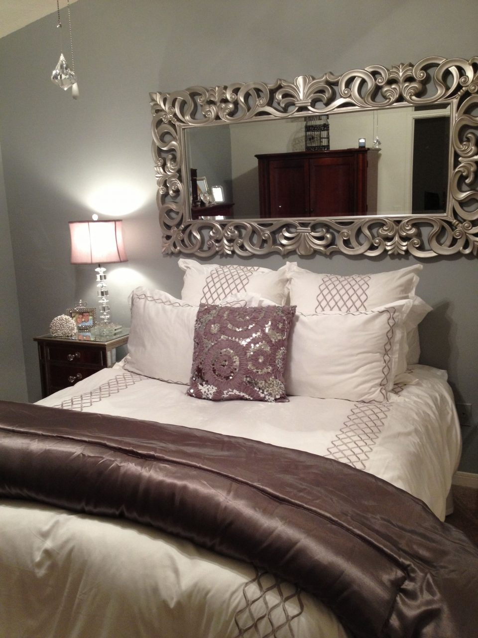 Home Decor Bedroom Decor Nice Use Of The Mirror To Take Away From