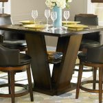 Counter Height Dining Table with Swivel Chairs