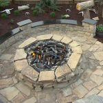 DIY Stone Patio with Fire Pit