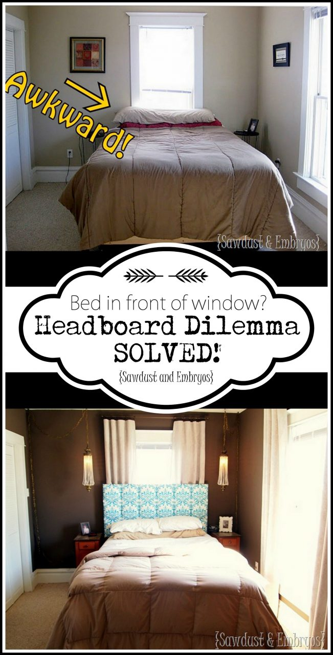 How To Mount A Headboard Over A Window Home Home Decor Diy Home
