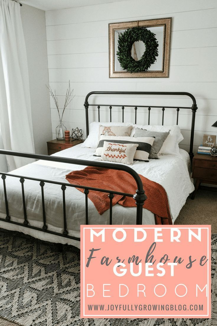 How To Style A Modern Farmhouse Guest Bedroom Bedroom Decor Ideas