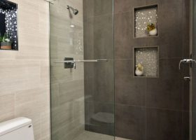 Small Bathroom with Stand Up Shower