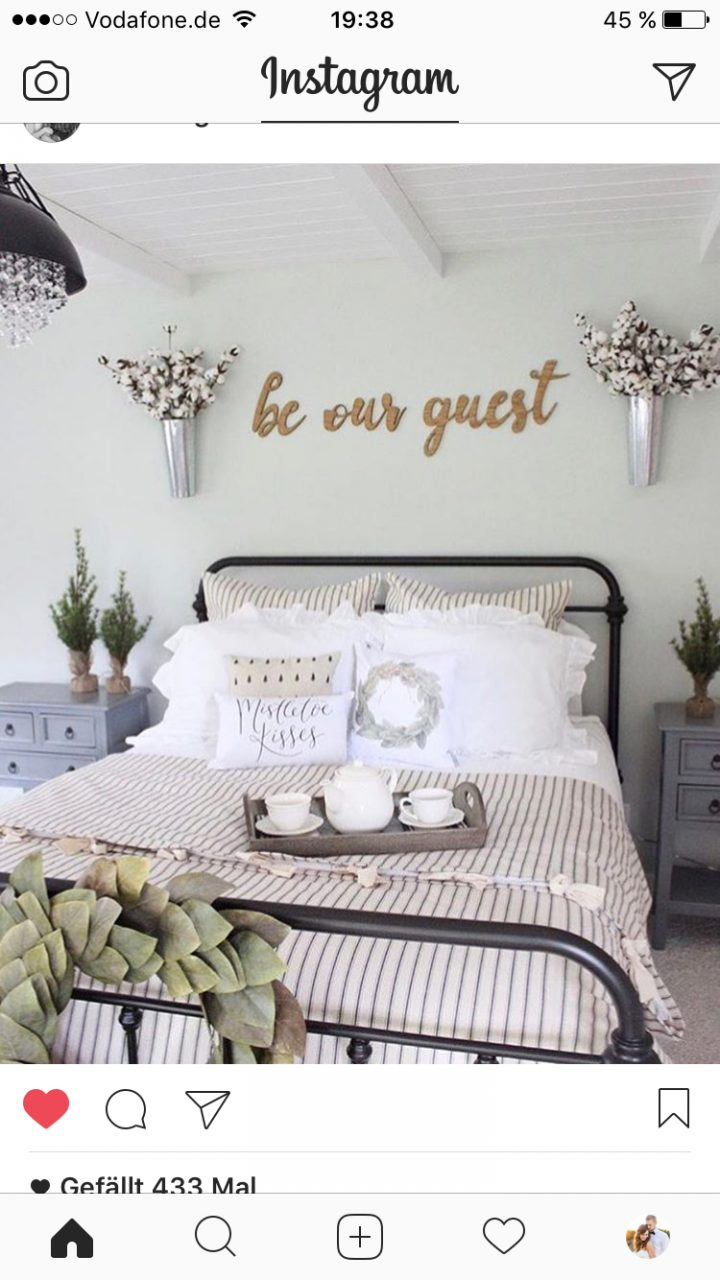 Inspiration For Refinishing The Old Bed In Our Guest Room Like The