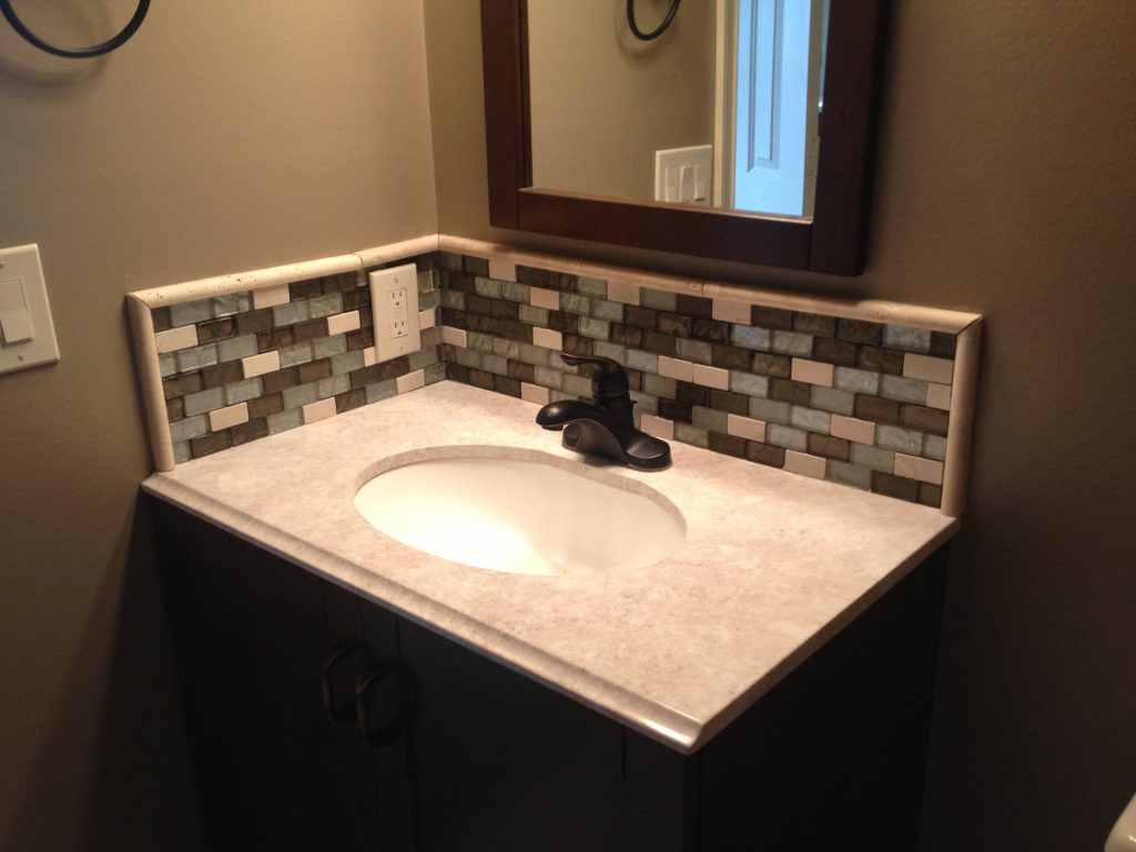 Installing Glass Tile Backsplash In Bathroom Design Sink Ideas