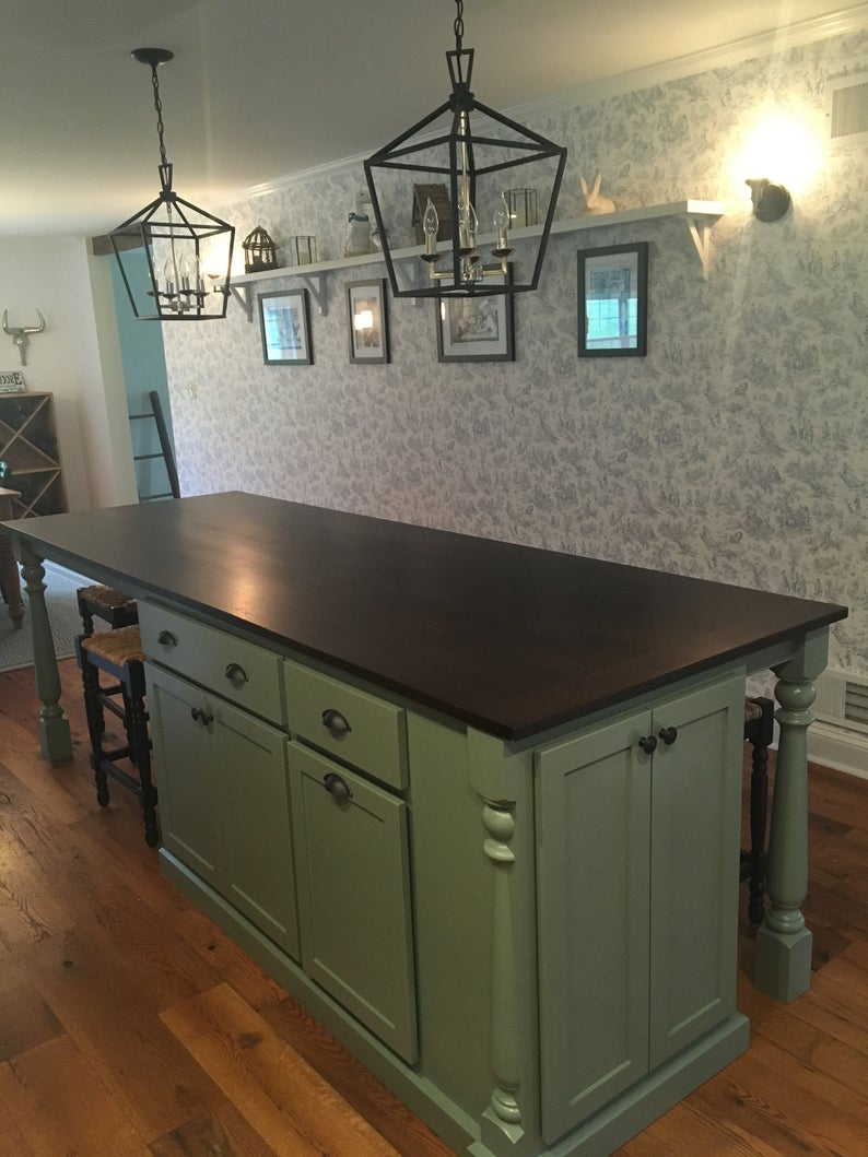 Item 112 Kitchen Island With Seating Table Island Etsy