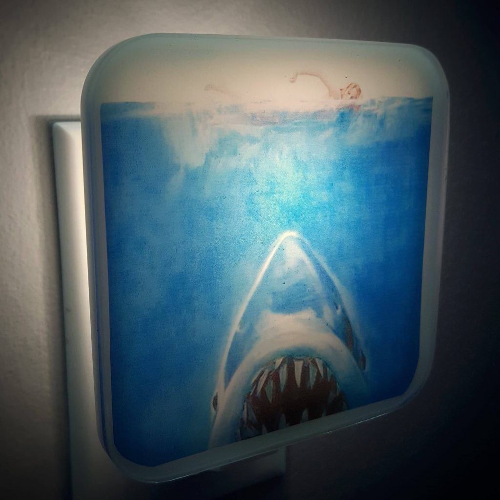 Jaws Night Light Retro Horror Decor Shark Week 70s Scary Movie Etsy