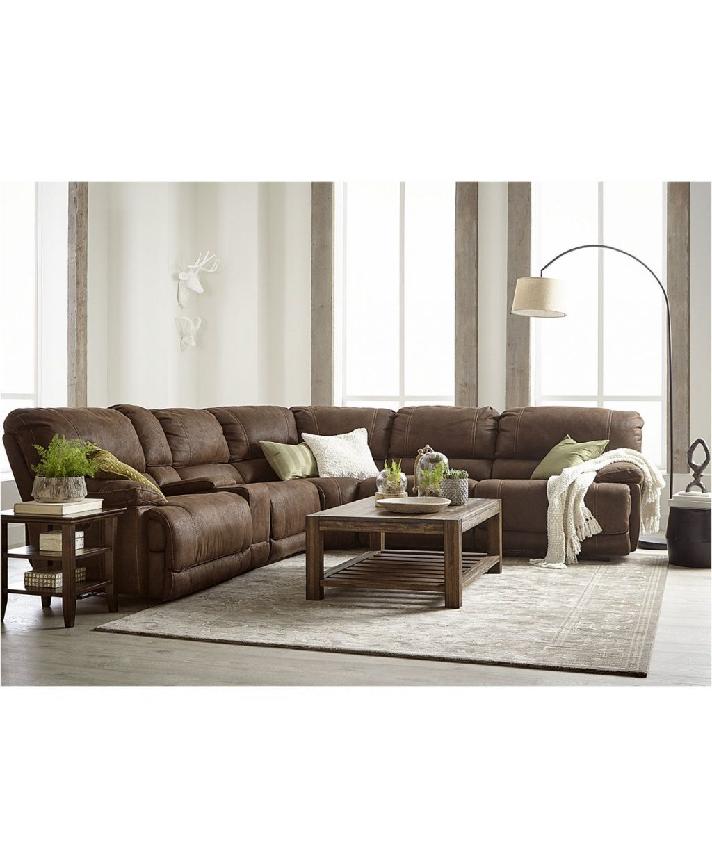 Picture of: Jedd Fabric Power Reclining Sectional Living Room Furnit Layjao