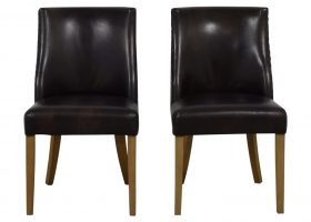Restoration Hardware Leather Dining Chairs