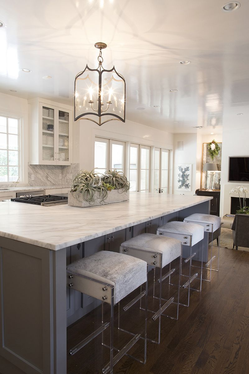 Kendras Kitchen And Lucite Bar Stools Kendrascott Homes I Love