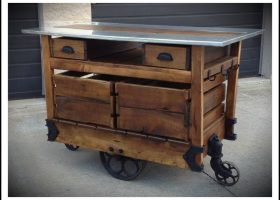 Rustic Kitchen Carts and Islands