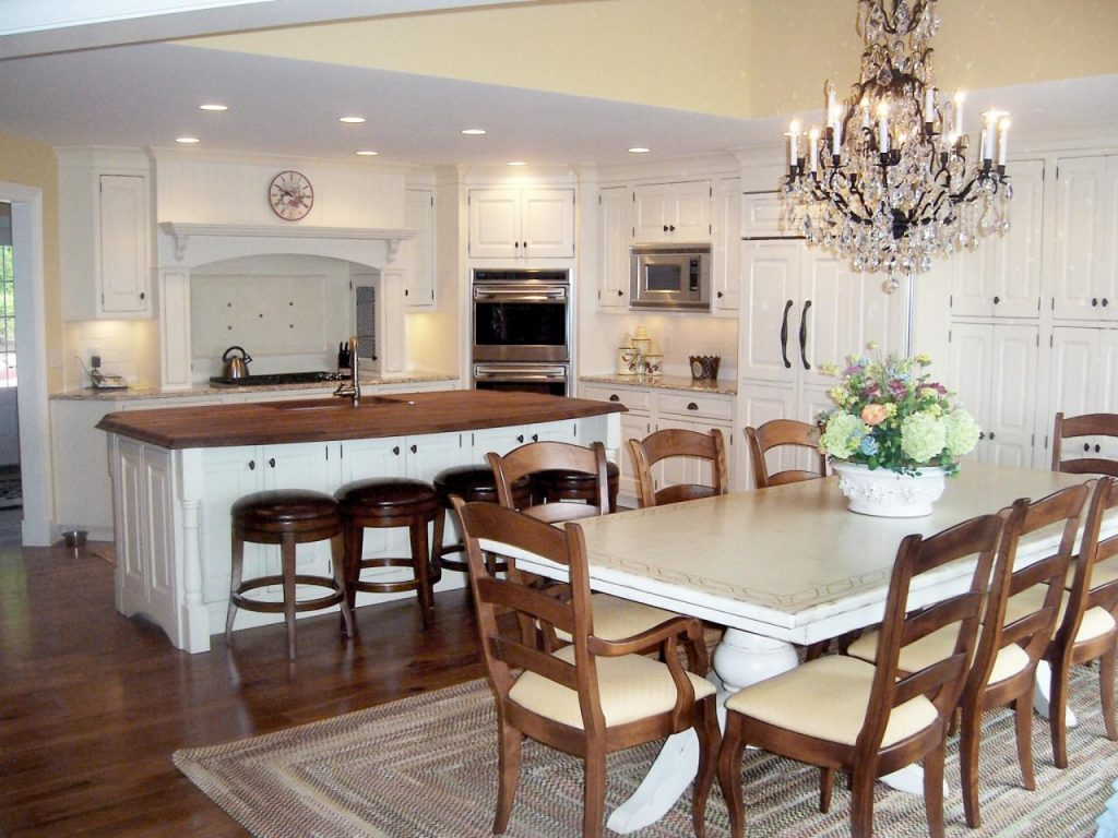 Kitchen Island With Table Extension With Kitchen Island With Table