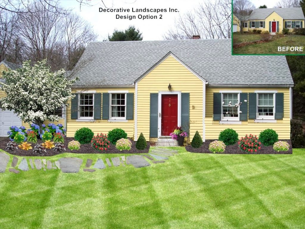 Landscaping Ideas Front Yard Cape Cod House The Garden