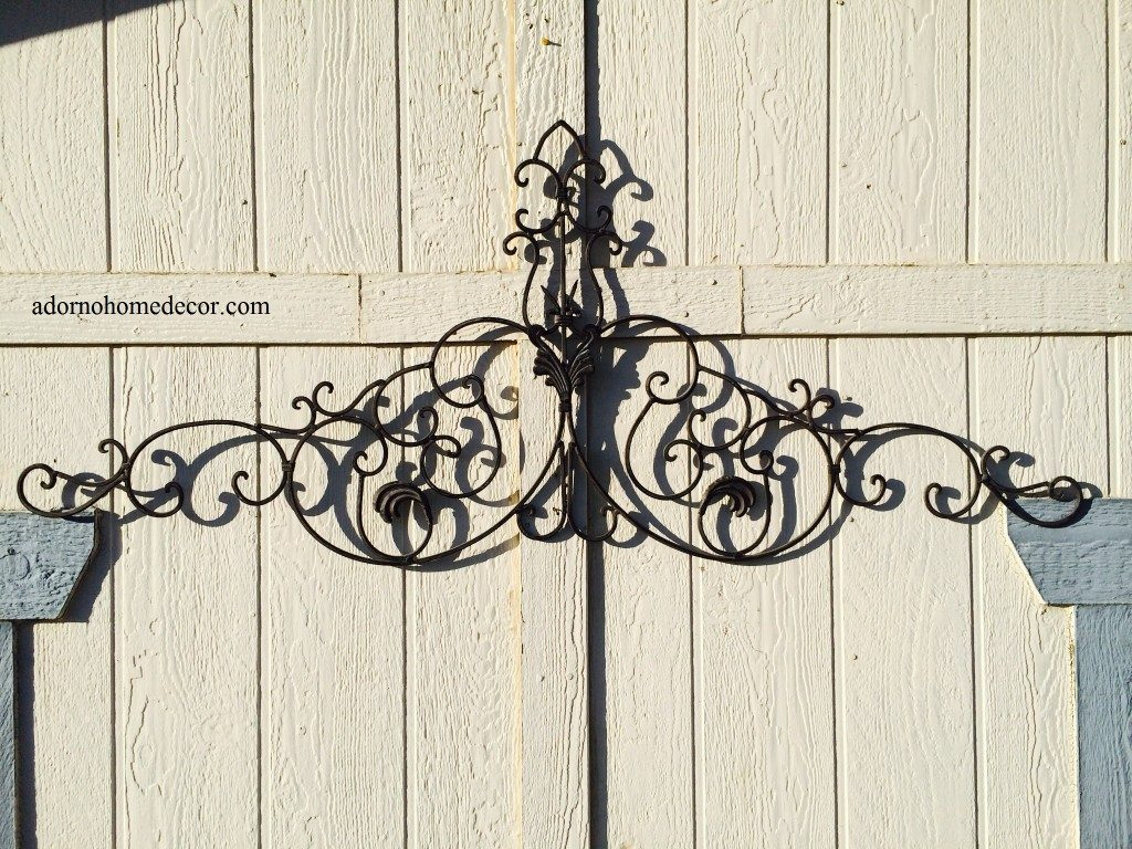 Large Tuscan Wrought Iron Metal Wall Decor Rustic Antique Garden