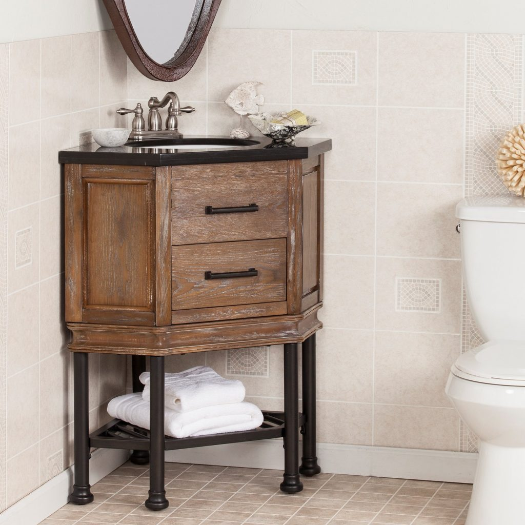 Laurel Foundry Modern Farmhouse Valensole 32 Single Corner Bath