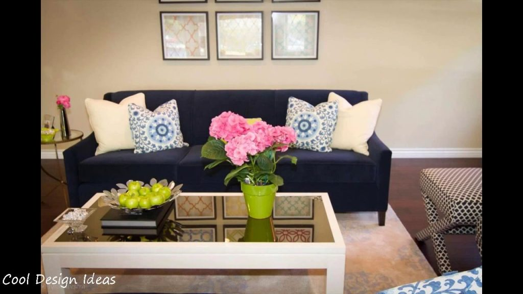 Navy Blue Living Room With Sofa Layjao