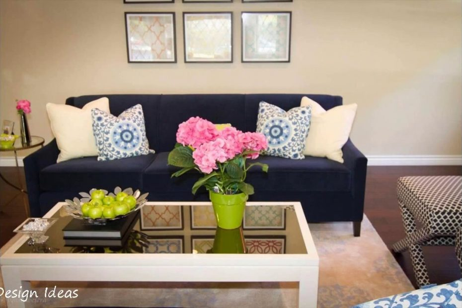 Living Room Ideas With Navy Blue Sofa Youtube