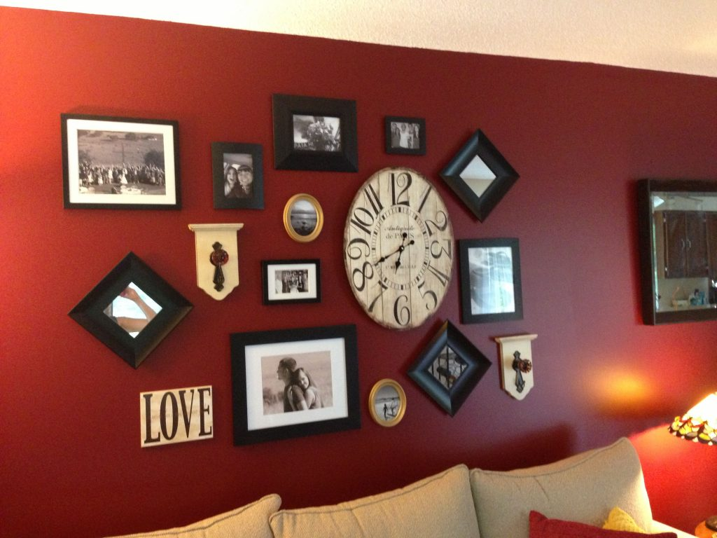 Living Room Wall Decor Wall Collage Red Wall Livingfamily Room