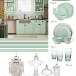 Mint Green Kitchen Cabinets with Gray Walls
