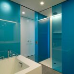 Luxury Residential Building Blue Bendheim Etched Glass Interiors