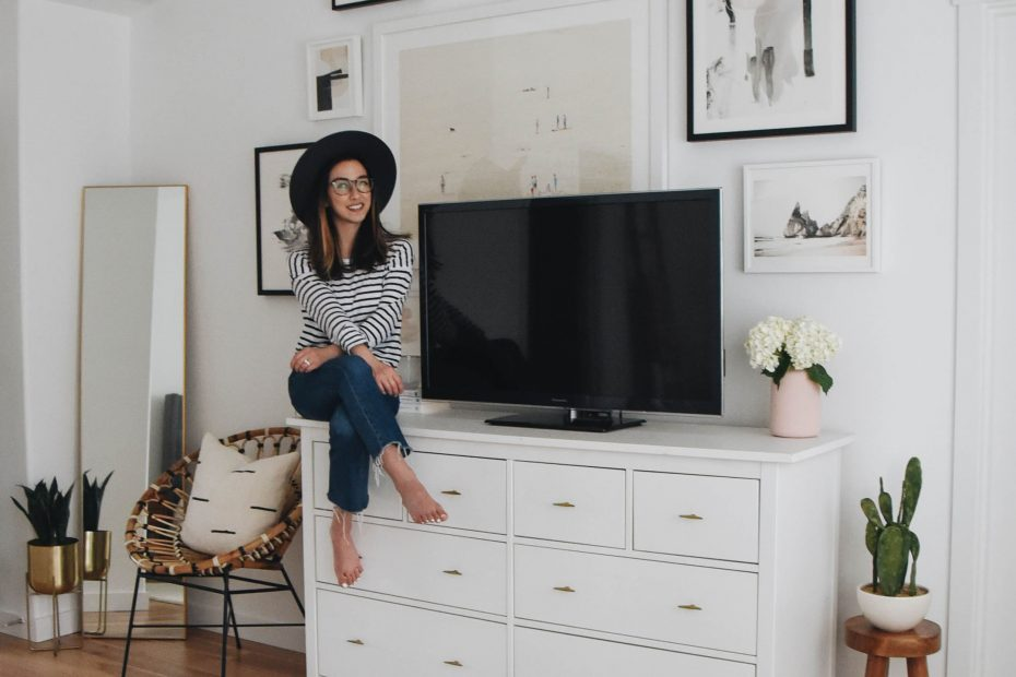 Master Bedroom Gallery Wall With Minted Crystalin Marie