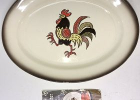 Metlox Poppytrail Rooster Dishes