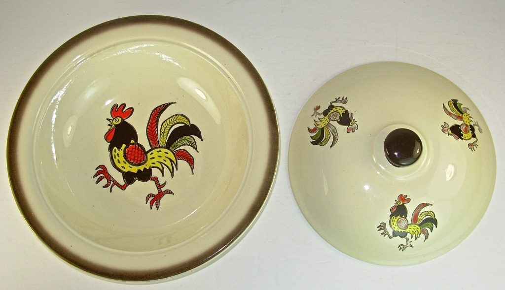Metlox Poppytrail Rooster Covered Vegetable Bowl Casserole Etsy