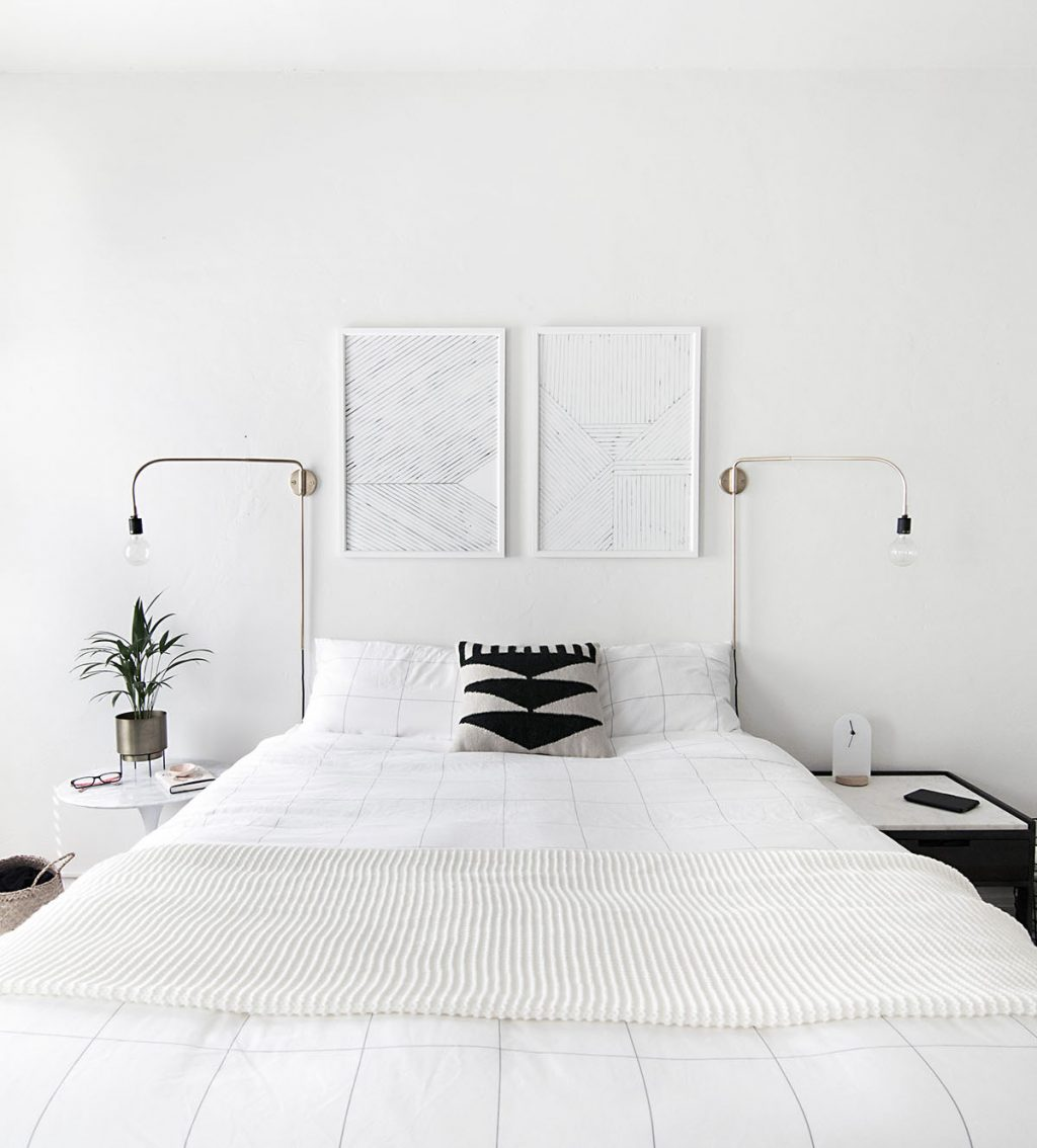 Minimal Art Above Bed Homey Oh My