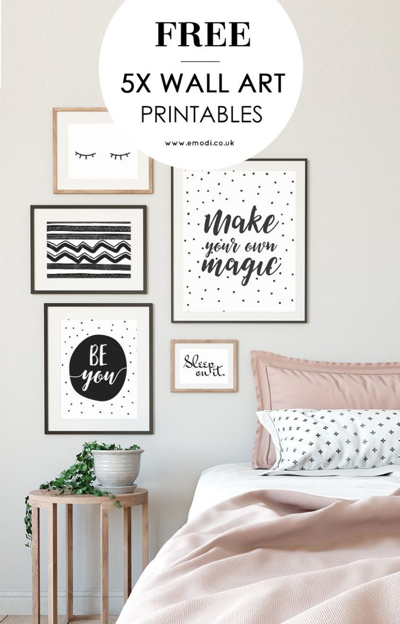 Modern Black And White Printables For Your Scandi Style Bedroom