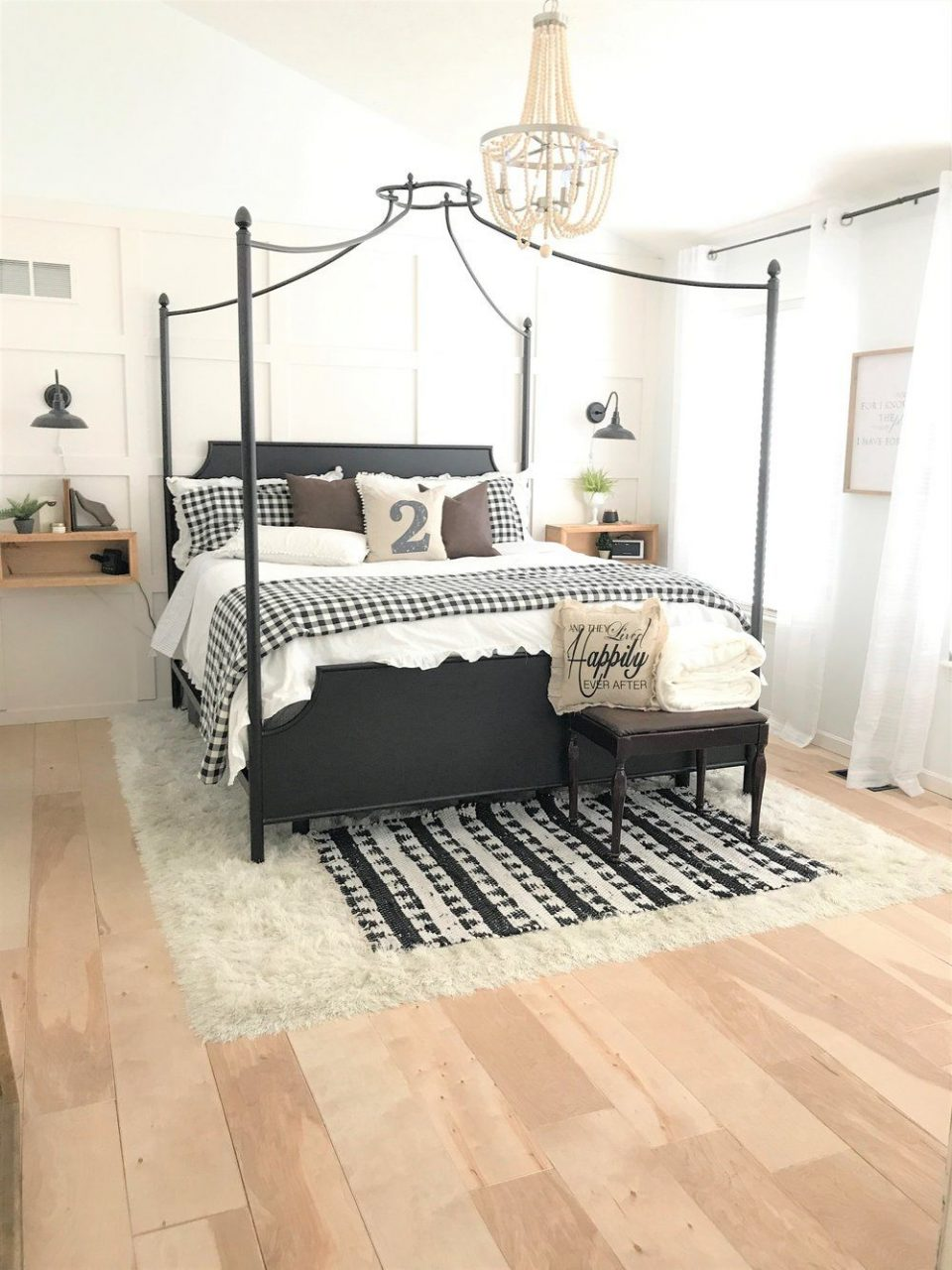 Modern Farmhouse Bedroom Makeover Bedroom Modern Farmhouse