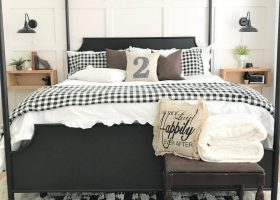 Farmhouse Guest Bedroom Buffalo Check Bedding Ideas