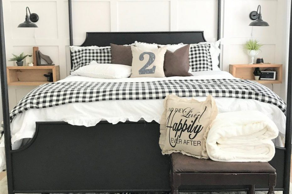 Modern Farmhouse Bedroom Makeover Flood Bedroom Redo Black
