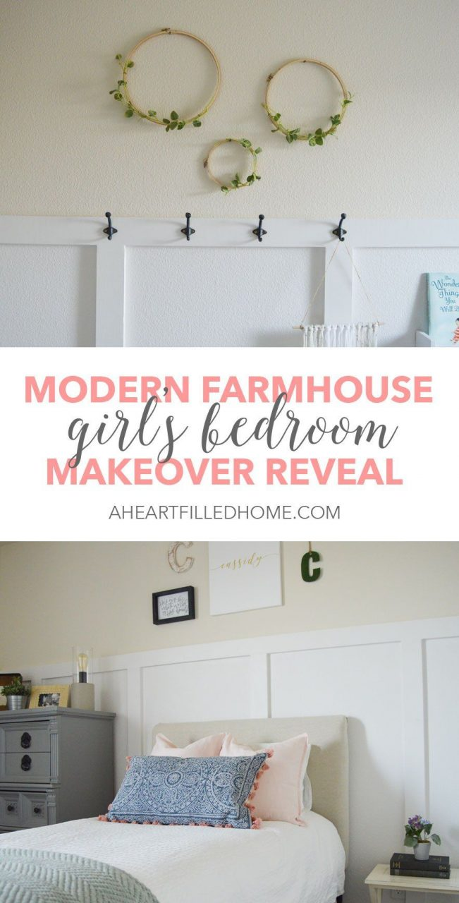 Modern Farmhouse Girls Bedroom Reveal Orc Week 6 A Heart Filled