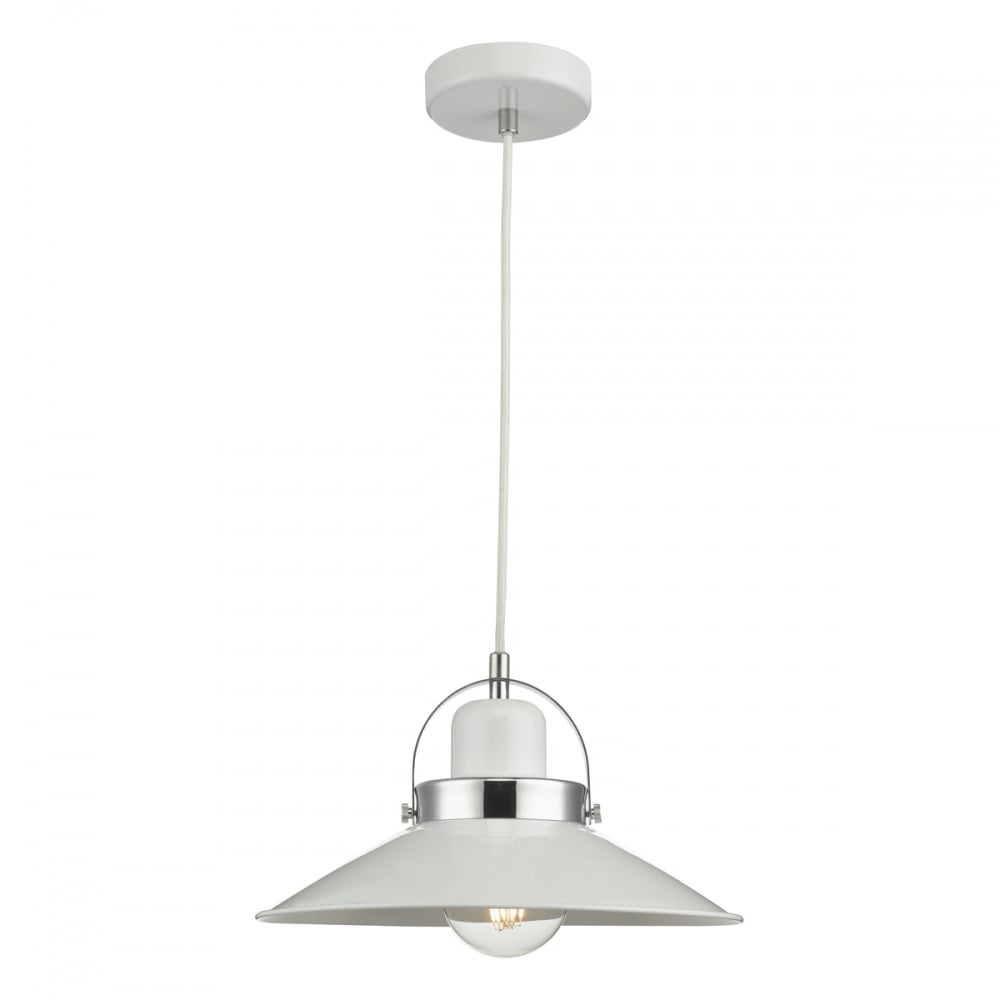 Modern Industrial Ceiling Pendant In White Lighting Company