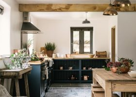 Black Modern Rustic Kitchen