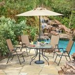 Mosaic Outdoor 6 Piece Folding Patio Dining Furniture Set Review