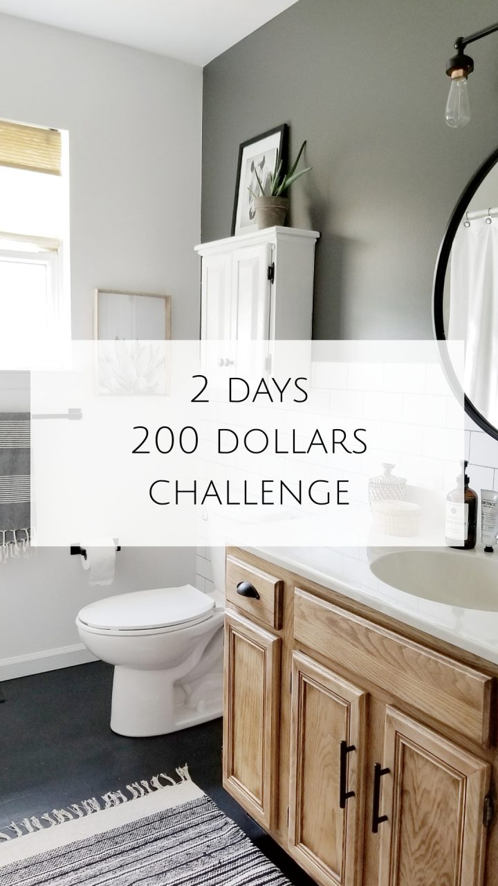 My 2 Days 200 Dollars Challenge Diy Bathroom Diy Bathroom