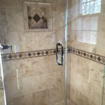 Bathroom Travertine Tile in Shower