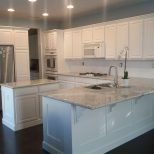 My New Kitchen River White Granite Benjamin Moore White Dove Paint