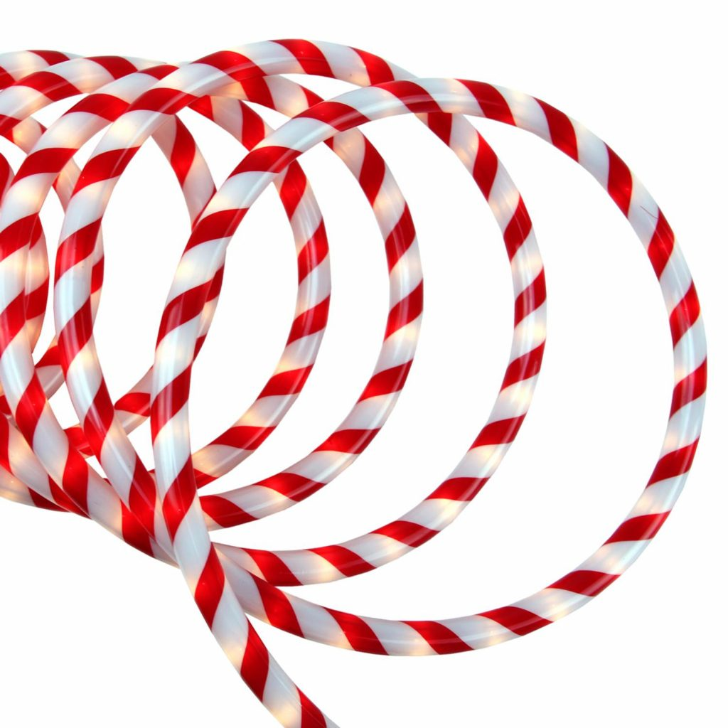 Northlight 18 Red And White Candy Cane Stripe Inout Christmas Rope